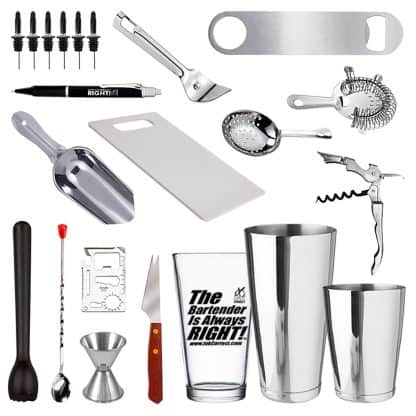 22 Piece Bar Set For Professional Bartenders