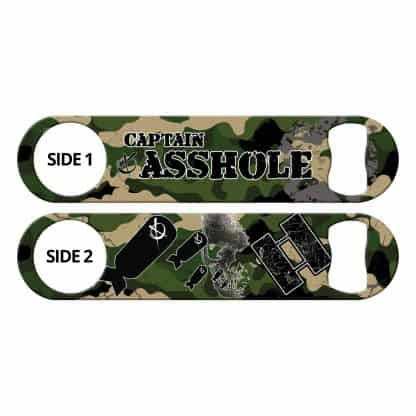 Captain Asshole Camo Army Green Flat Speed Opener