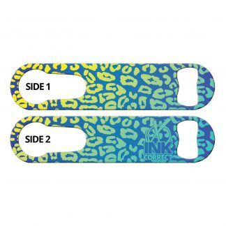 Cheetah Glam Blue Haze Flat PSR Bottle Opener