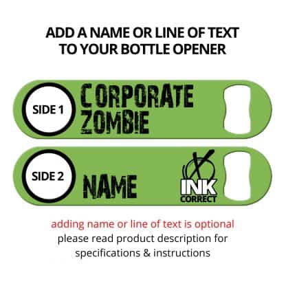 Corporate Zombie Flat Speed Opener With Personalization