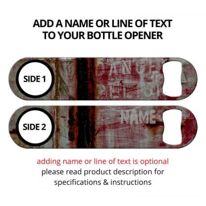 Danger Red Grungy Speed Opener With Personalization