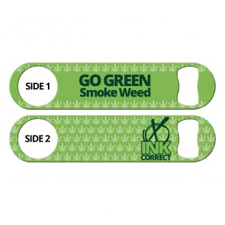 Go Green Smoke Weed Flat Speed Opener