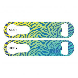 Leopard Glam Blue Haze Flat PSR Bottle Opener