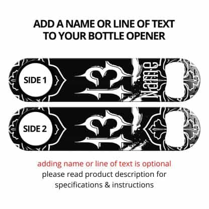 Lucky 13 Black Speed Opener With Personalization