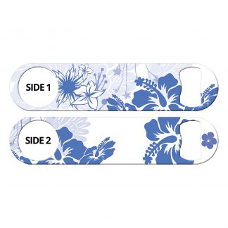 Porcelain Tropical Flowers Flat Speed Opener