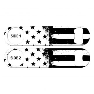 American Flag Black And White Bartender Flat Speed Opener