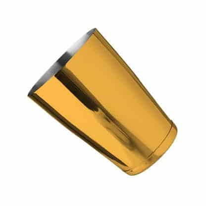 Metallic Gold Stainless Steel 18 oz Cocktail Shaker With Weighted Bottom