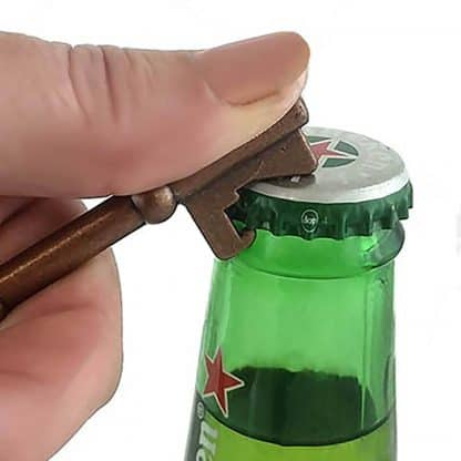 Key Design Novelty Handheld Bottle Opener with Antique Copper Finish