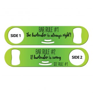 Bar Rules Flat Strainer Bottle Opener