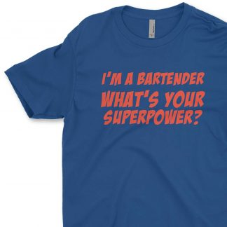 Bartender Superpower Mens' Crew Neck T-Shirt