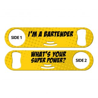 Bartender Superpower Flat Strainer Bottle Opener