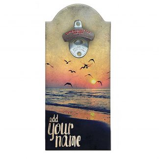 Cool Sunset Customizable Wall Mounted Bottle Opener
