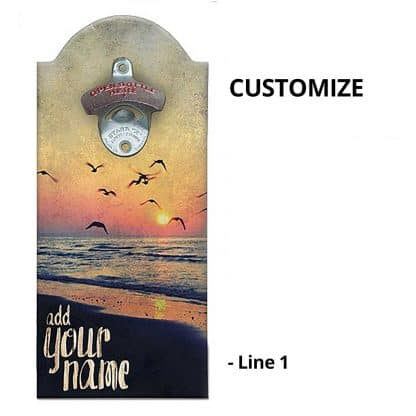 Cool Sunset Wall Mounted Bottle Opener Personalizing Instructions