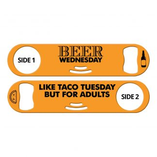 Beer Wednesday Flat Strainer Bottle Opener