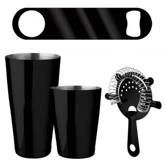 Metallic Black 4-Piece Bartender Kit