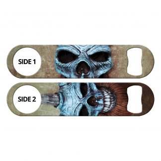Viking Clown Skulls Flat Speed Opener by Professional Artist Bones