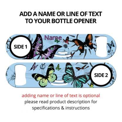 Butterfly Kisses Strainer Bottle Opener With Personalization