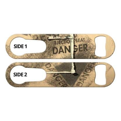 Danger Tan Grungy Bar Key With Built-In Pour Spout Remover