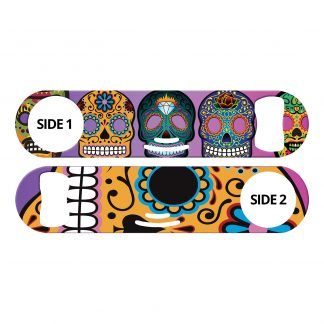 Day of the Dead II Sugar Skulls Flat Strainer Bottle Opener
