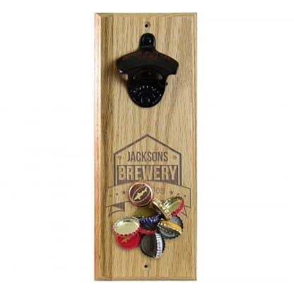 Engraved Brewery Customizable Wall Mounted Bottle Opener