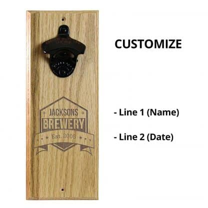 Engraved Brewery Wall Mounted Bottle Opener Personalizing Instructions
