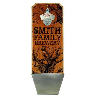 Family Brewery Customizable Wall Mounted Bottle Opener