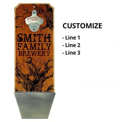 Family Brewery Wall Mounted Bottle Opener Personalizing Instructions