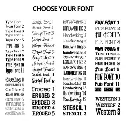 Naked Bottle Openers Font Chart