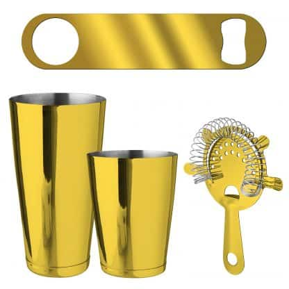 Metallic Gold 4-Piece Bartender Kit