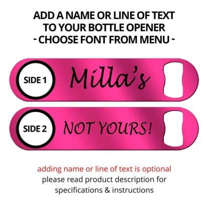 Metallic Hot Pink Naked Speed Opener With Name Personalization