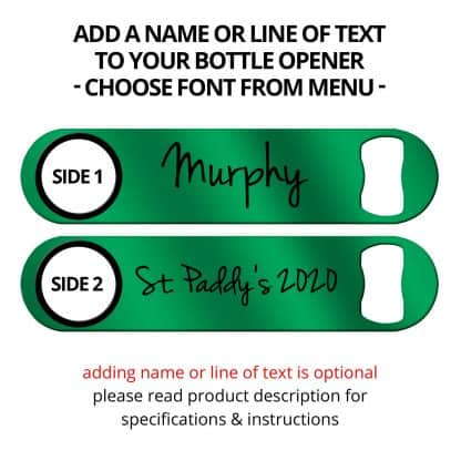 Metallic Kelly Green Naked Speed Opener With Name Personalization
