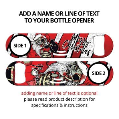 Christmas Dead Santa Zombie Strainer Bottle Opener With Personalization
