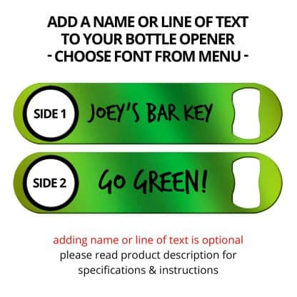 Metallic Neon Green Naked Speed Opener With Name Personalization