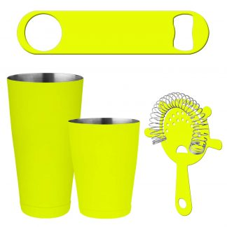 Neon Yellow 4-Piece Bartender Kit