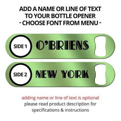 Metallic Pistachio Green Naked Speed Opener With Name Personalization