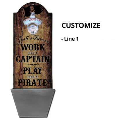 Play Like A Pirate Wall Mounted Bottle Opener Personalizing Instructions