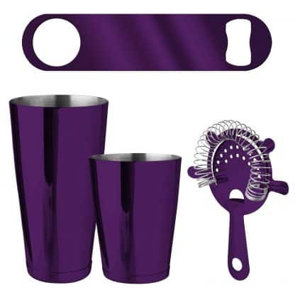 Metallic Purple 4-Piece Bartender Kit
