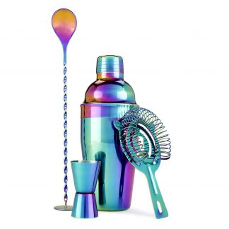 Iridescent Rainbow 4-Piece Bartender Kit