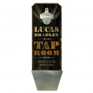 Tap Room Black Customizable Wall Mounted Bottle Opener