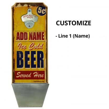 Wall Mounted Bottle Opener Personalizing Instructions
