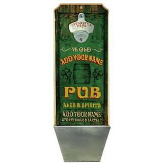 Vintage Irish Pub Customizable Wall Mounted Bottle Opener