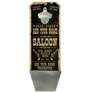 Vintage Saloon Customizable Wall Mounted Bottle Opener