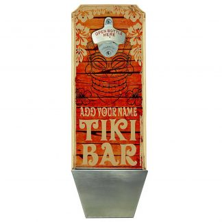 Vintage Tiki Bar Customizable Wall Mounted Bottle Opener