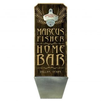 Home Bar Brown Customizable Wall Mounted Bottle Opener