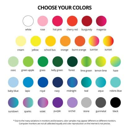 Color Chart for Naked Bottle Openers