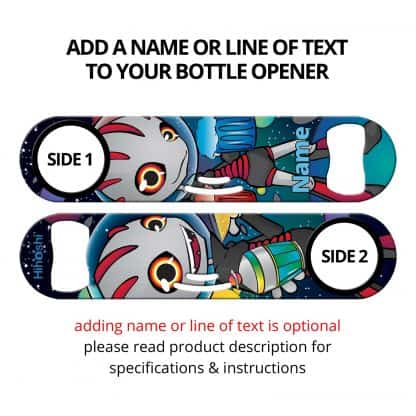 Commissioned Art Strainer Bottle Opener With Personalization