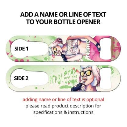 Off the Hook Commissioned Art PSR Bottle Opener With Personalization