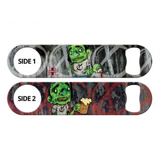 Zombie Bartender Flat Speed Opener by Professional Artist Justin Vilonna