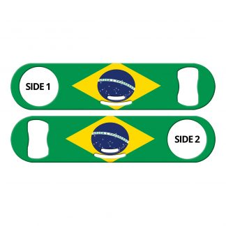 Classic Brazilian Flag Strainer Bottle Opener