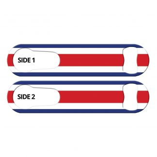 Classic Costa Rican Flag PSR Bottle Opener